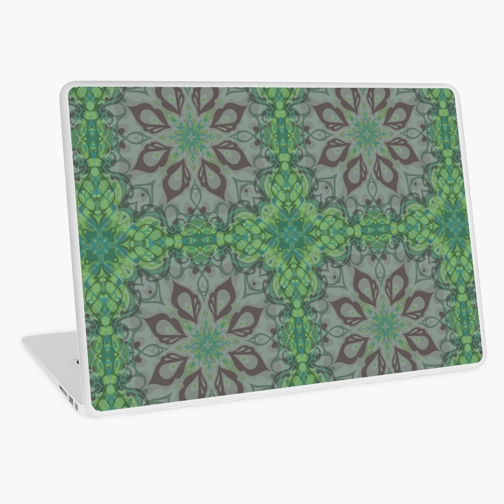 Peacock Pattern, translucent Laptop Skin