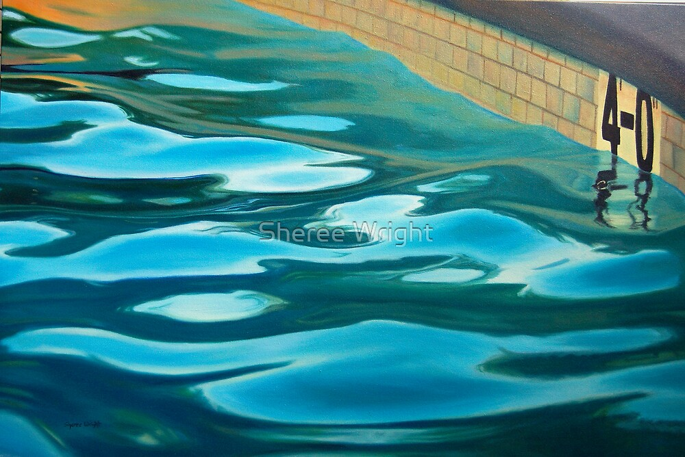 Feet Deep - Oil on canvas by Sheree Wright