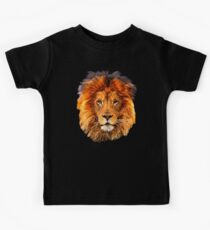 Old Lion Digital art Painting Kids Tee