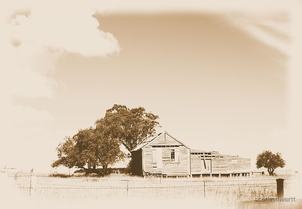 the shed in sepia by scarlettheartt