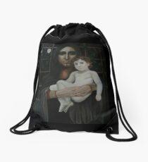 Madonno with child - Madonno con bambina Drawstring Bag