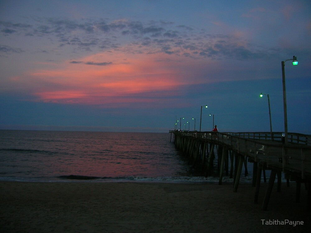 Pier at Sunset by TabithaPayne