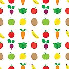 A Cute Concoction of Fruit and Vegetable. Vegan Heaven! by Shelly Still