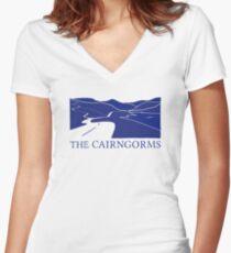 The Cairngorms - Ecosse T-shirt col V femme