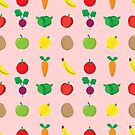 A Cute Concoction of Fruit and Vegetables. Vegan Heaven! by Shelly Still