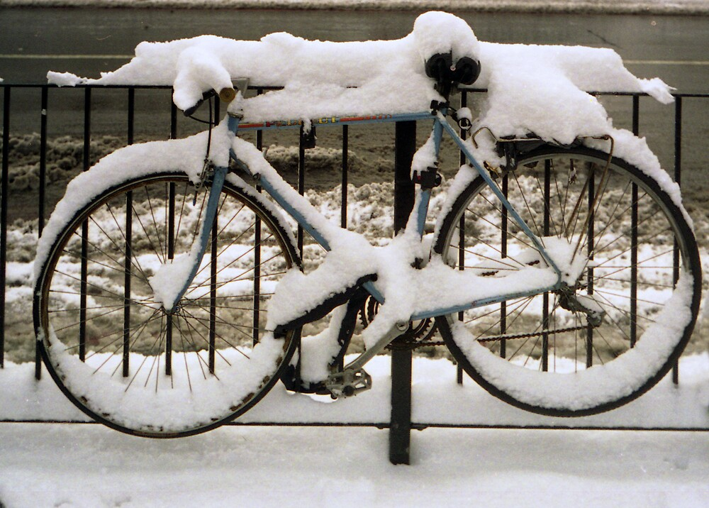 Bicycle in the Snow by Joe Glaysher