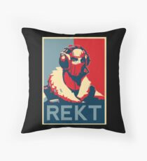 REKT Throw Pillow