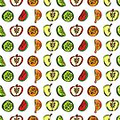 Fruit Abstract Pattern Oranges, Apples and Limes by Shelly Still
