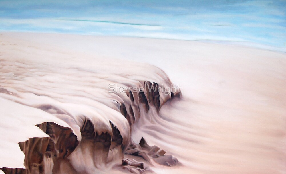 Shifting Sands - Oil on canvas by Sheree Wright