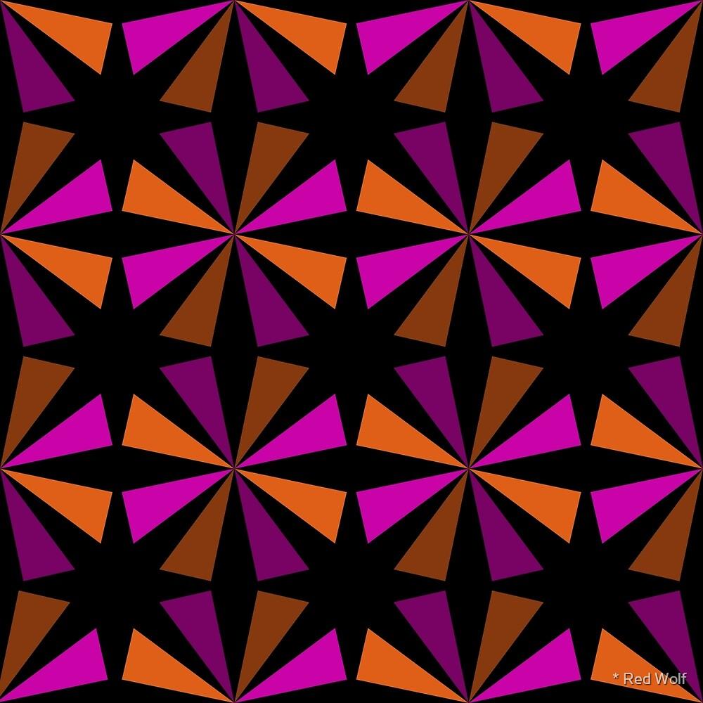 Geometric Pattern: Star: Orange/Pink by * Red Wolf