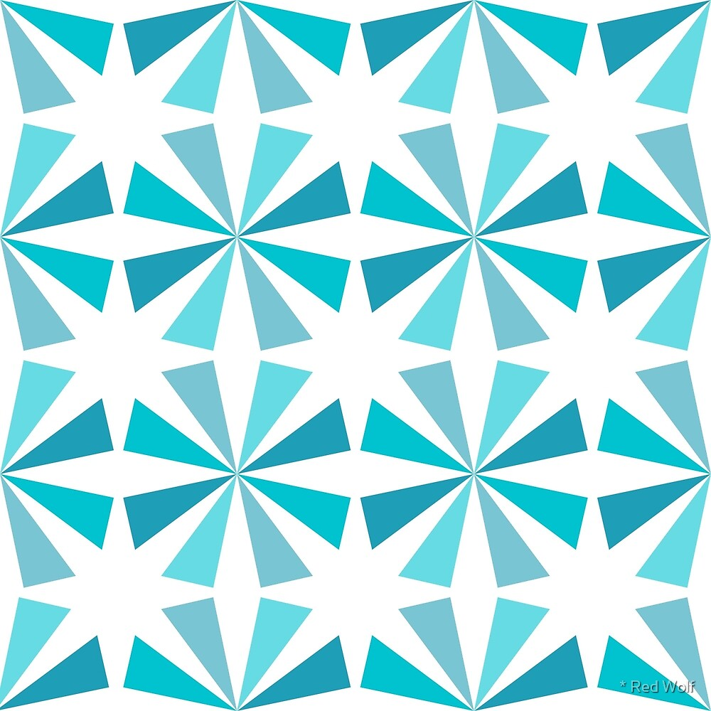 Geometric Pattern: Star: Blue by * Red Wolf
