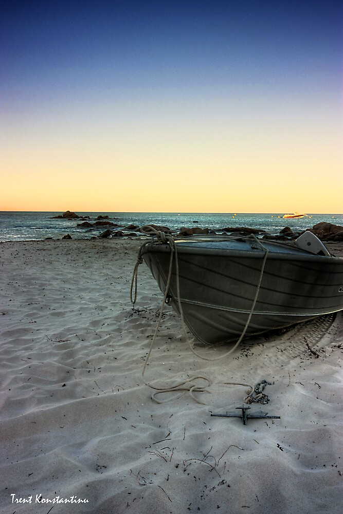 Boat in Bunker Bay by kostasimage