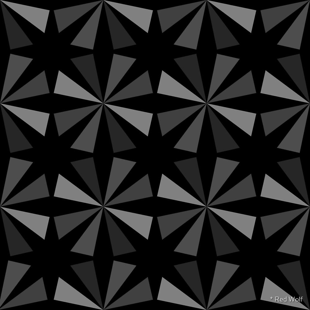 Geometric Pattern: Star: Grey/Black by * Red Wolf