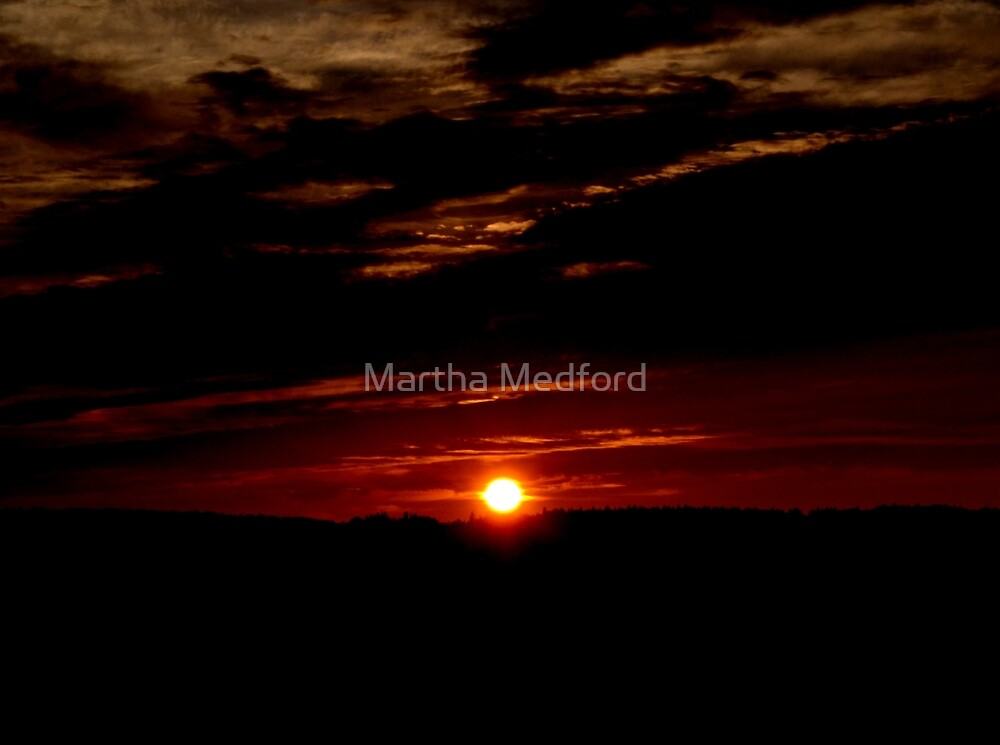 Highway Sunset by Martha Medford