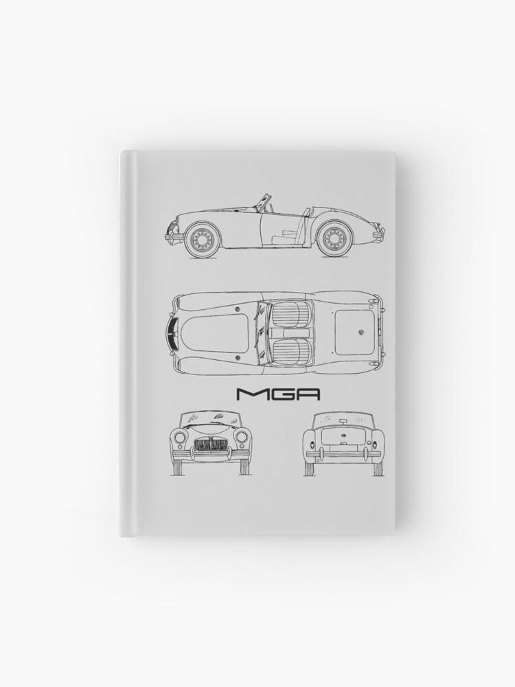 MGA Sports Car Blueprint   Hardcover Journal