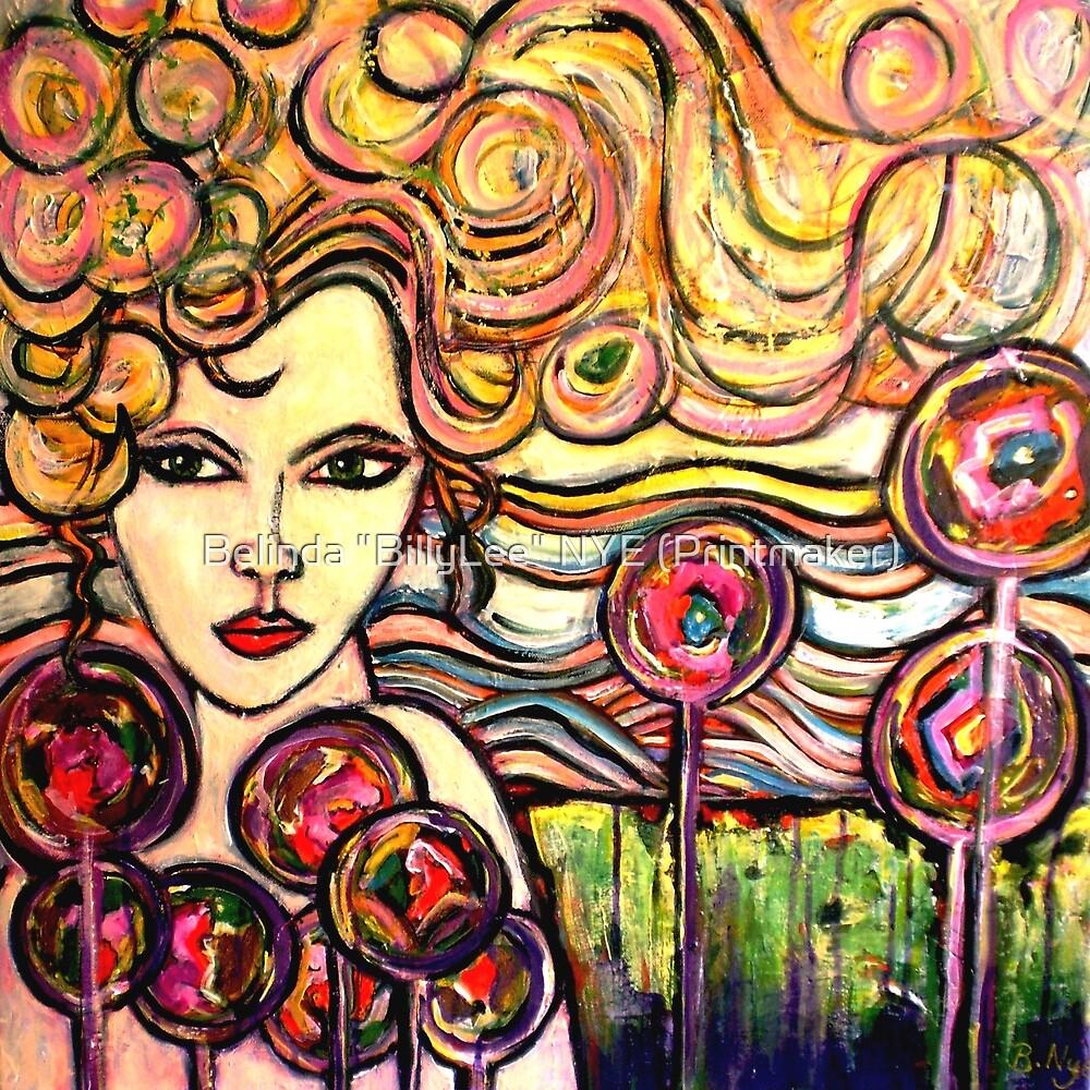 """Rainbow Girl by Belinda """"BillyLee"""" NYE (Printmaker)"""