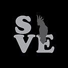 SAVE BIRDS (black cockatoo) by jazzydevil