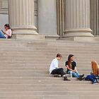 Hanging Out On Steps by Cora Wandel