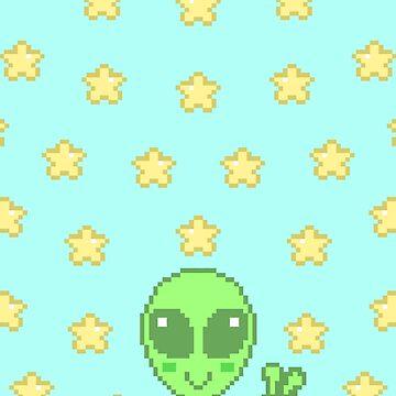 Pixel Alien by Trashprincess