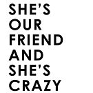 She's Our Friend And She's Crazy by meandthemoon
