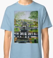 Looking down Audlem locks from lock No. 8 Classic T-Shirt