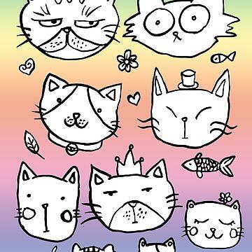 cats doodles by shashira