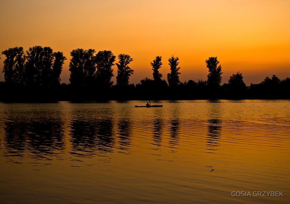 Gold Sunset over Silver Lake by GOSIA GRZYBEK