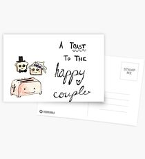 Toast to the Happy Couple Postcards