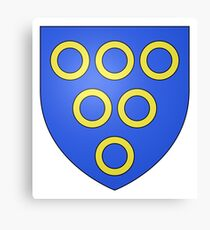 French France Coat of Arms 6399 Blason fam fr Husson Canvas Print