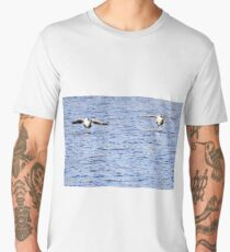 Two Canada geese stick together Men's Premium T-Shirt