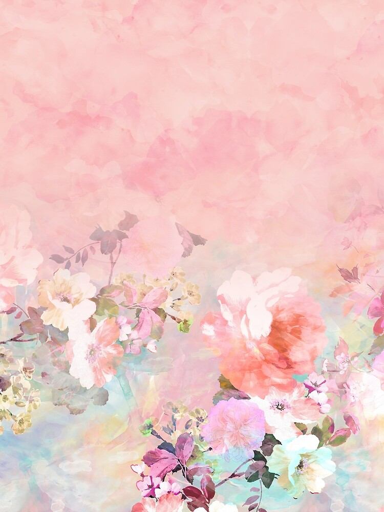 Pastel blush watercolor ombre floral watercolor by GirlyTrend