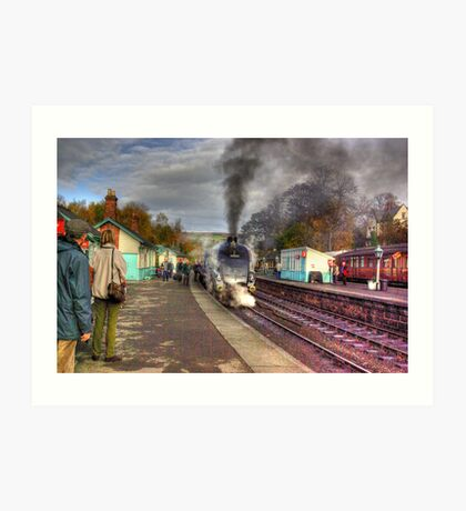 The Train Arriving - Grosmont North Yorkshire Art Print