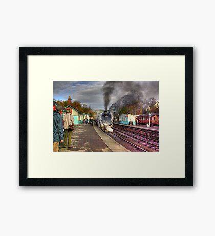 The Train Arriving - Grosmont North Yorkshire Framed Print