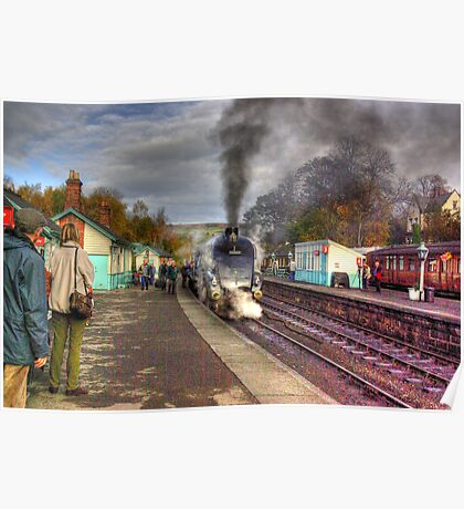 The Train Arriving - Grosmont North Yorkshire Poster