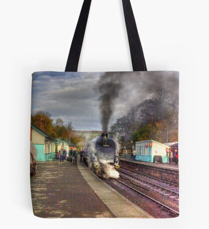 The Train Arriving - Grosmont North Yorkshire Tote Bag