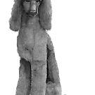 Poodle standard - black by doggyshop