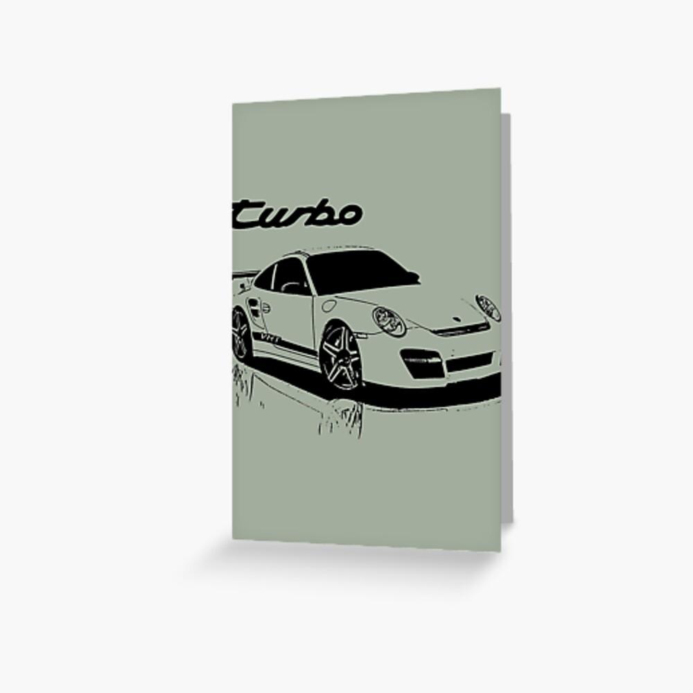 turbo - porsche 911 Tarjetas de felicitación