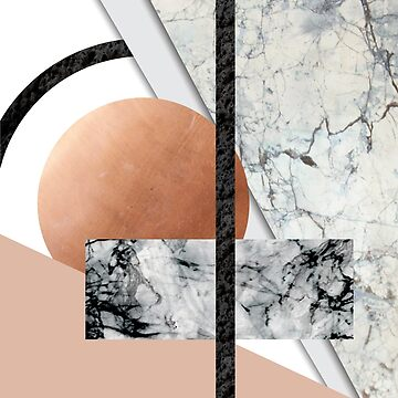 Collage II ( marble, copper, volcanic rock) by MartaOlgaKlara