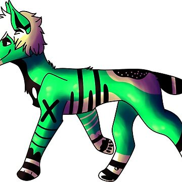 Green and Black Stylised Wolf by Sonorouss