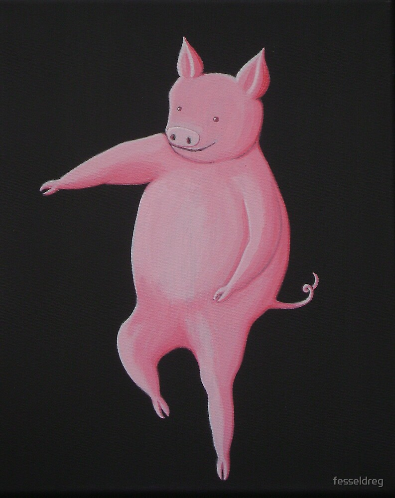 Dancing Pig 2  by fesseldreg