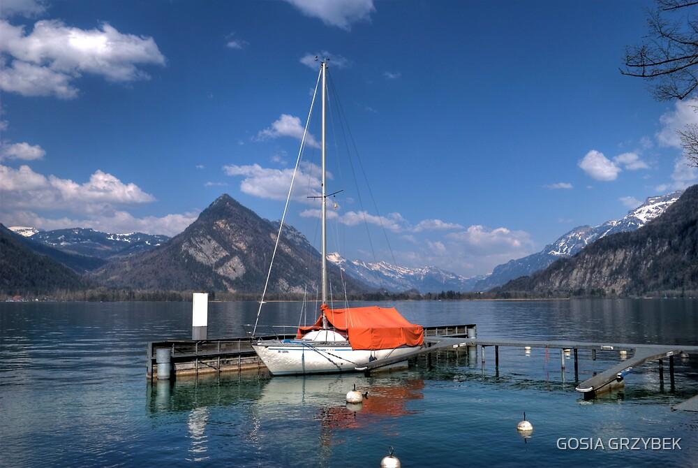 Lake Thun-Swiss by GOSIA GRZYBEK