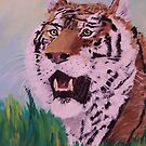 Siberian Tiger Repose by TamiParrington