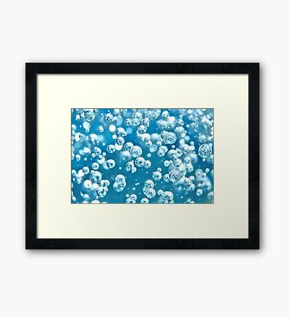 Blue Water Bubble Framed Print