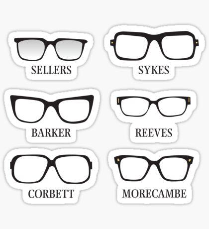Funny Glasses Sticker
