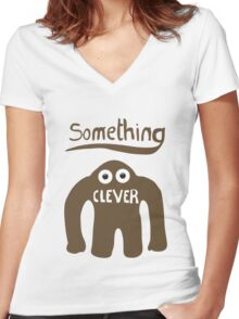 Something Clever Women's Fitted V-Neck T-Shirt