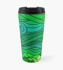 Green forest oriental ornament Travel Mug