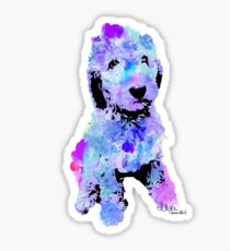 doodle watercolor pet portrait | Branson Sticker
