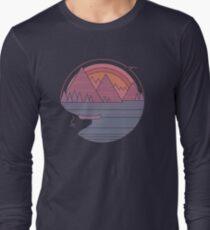 Camiseta de manga larga Las montañas están llamando