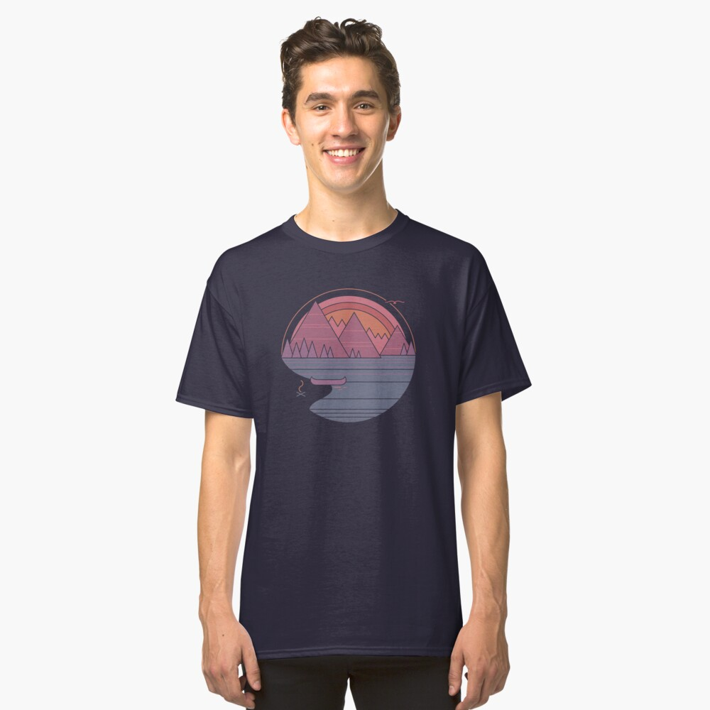 The Mountains Are Calling Classic T-Shirt Front