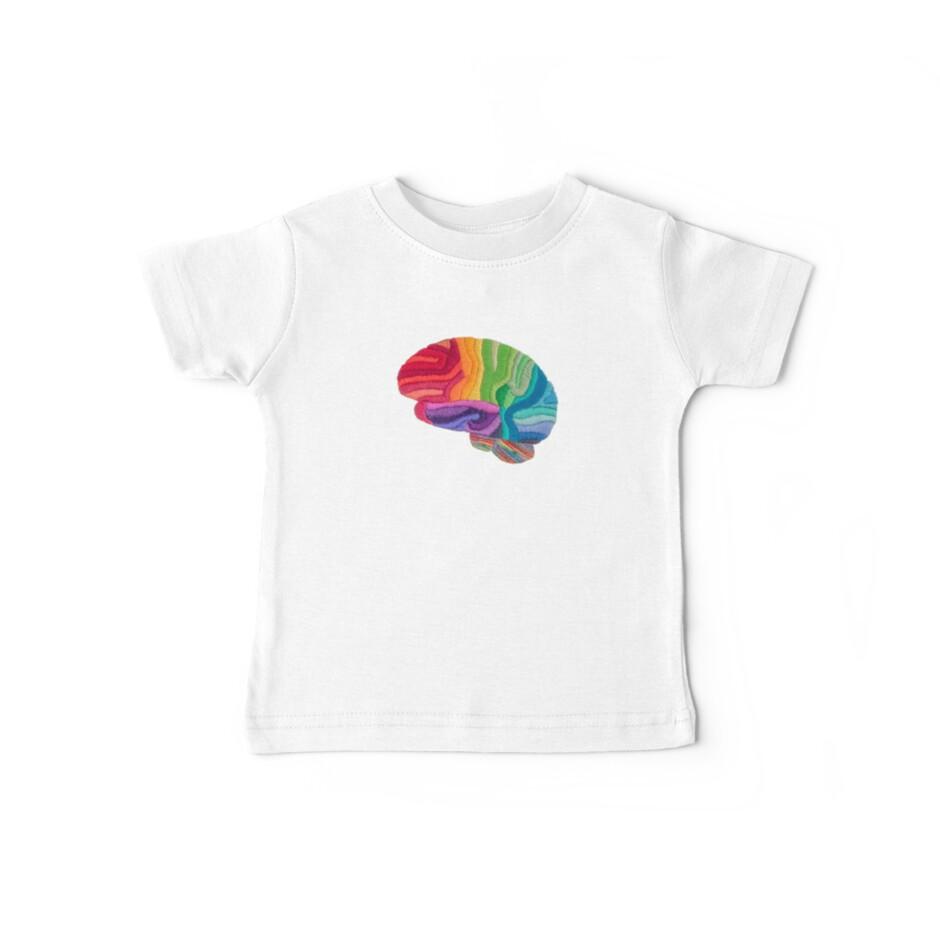 Embroidered Look - Rainbow Brain  by Laura Bundesen